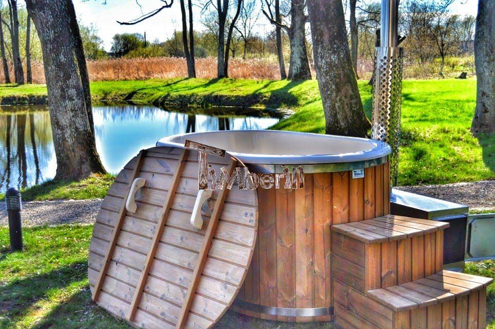 Aussenwhirlpool für 2 Personen mit externem Holzofen