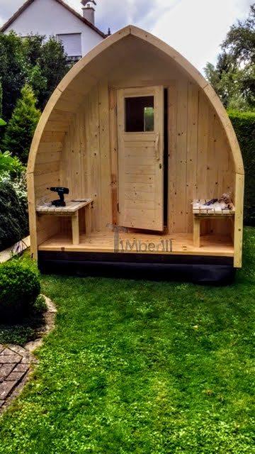 DIY Gartensauna - Türen und Vordersitze sind fertig