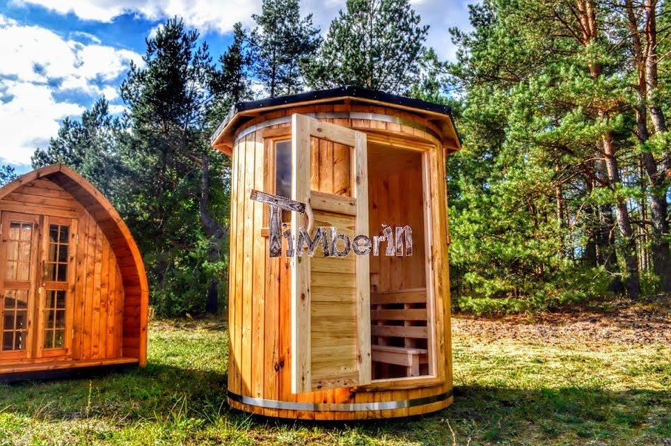 senkrechte aufrechte stehende Sauna