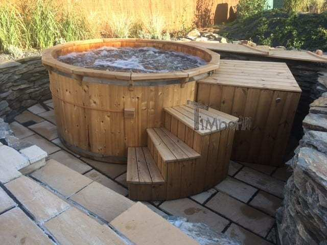 Holz Whirlpool Deluxe mit interner Heizung