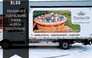 TRANSPORTVERPACKUNG IHRER AUßEN BADETONNE timberin 2