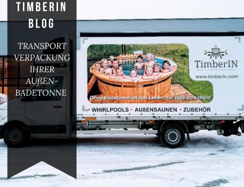 TRANSPORTVERPACKUNG IHRER AUßEN-BADETONNE